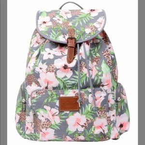 Victoria secrets PINK tropical canvas backpack